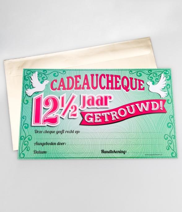 Populair ᐅ Gift Cheque - 12,5 jaar getrouwd Cadeau-Cheques kopen #JX05